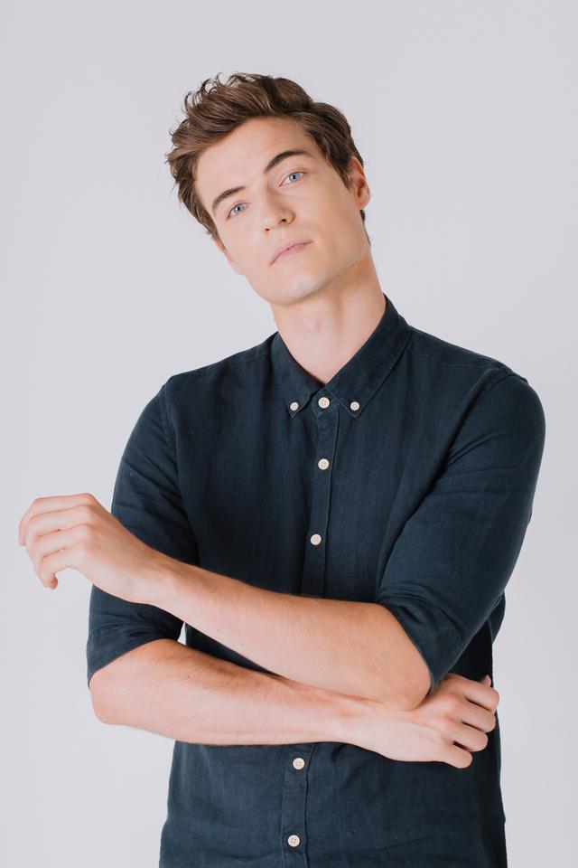 Hunter Green Linen Shirt