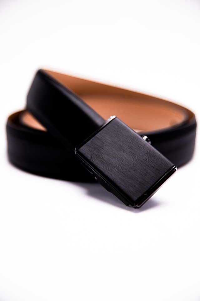 Square Buckle Autolock Belt in Black