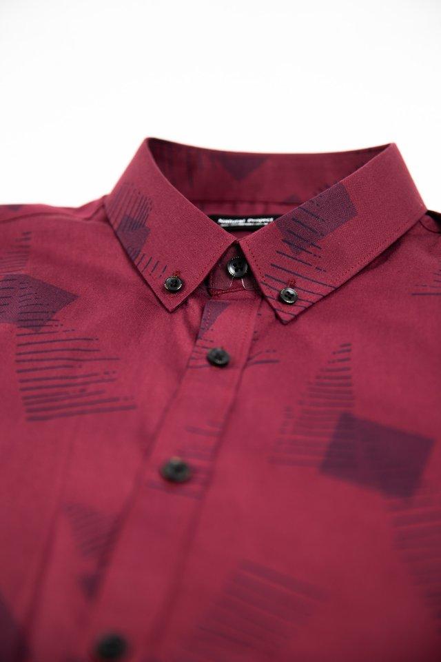 Red Square Prints Half Sleeve Shirt