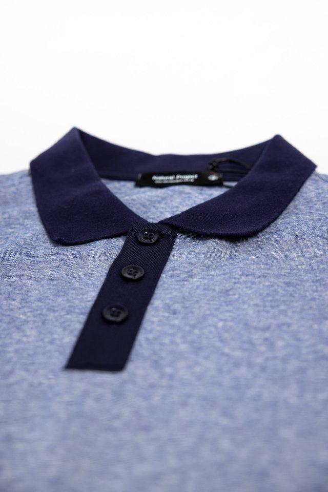 Blue Dual Tone Polo Tee Shirt