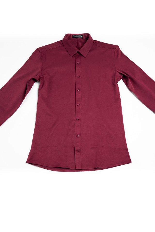 Formal Long Sleeve Shirt in Red