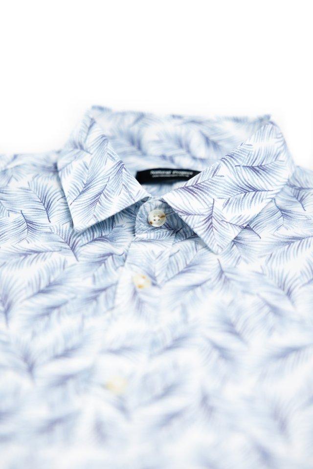 Leaf Prints Short Sleeve Shirt