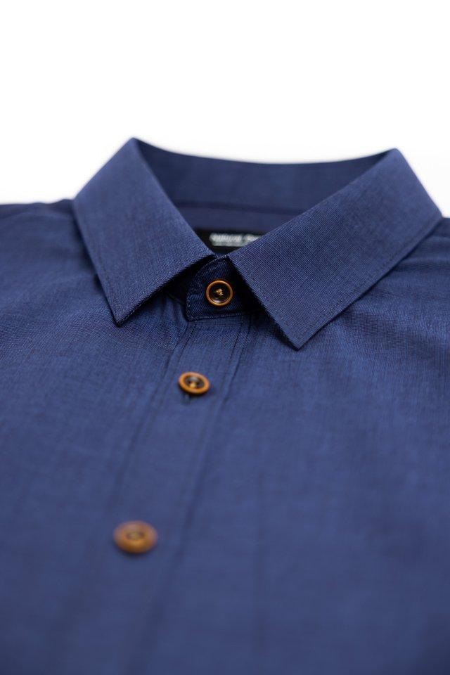 Intertwine Blue Half Sleeve Shirt
