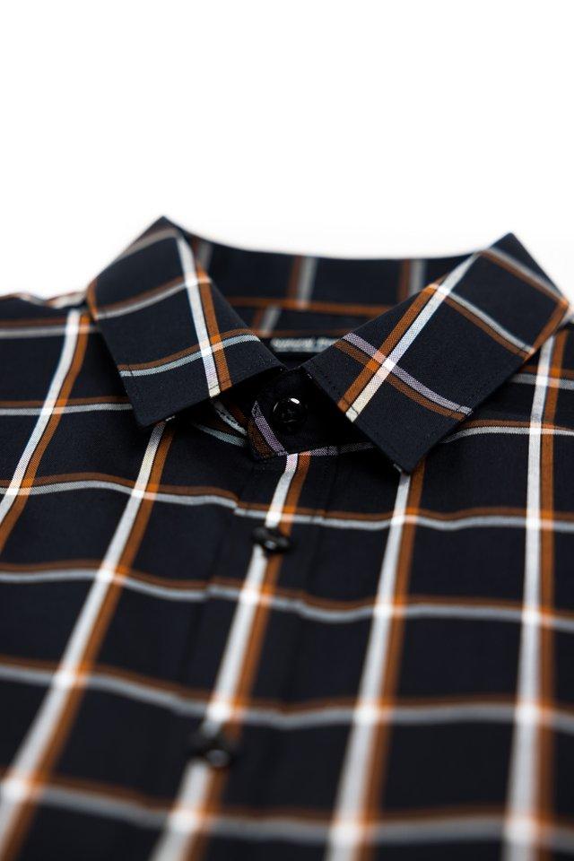Black Checkered Half Sleeve Shirt