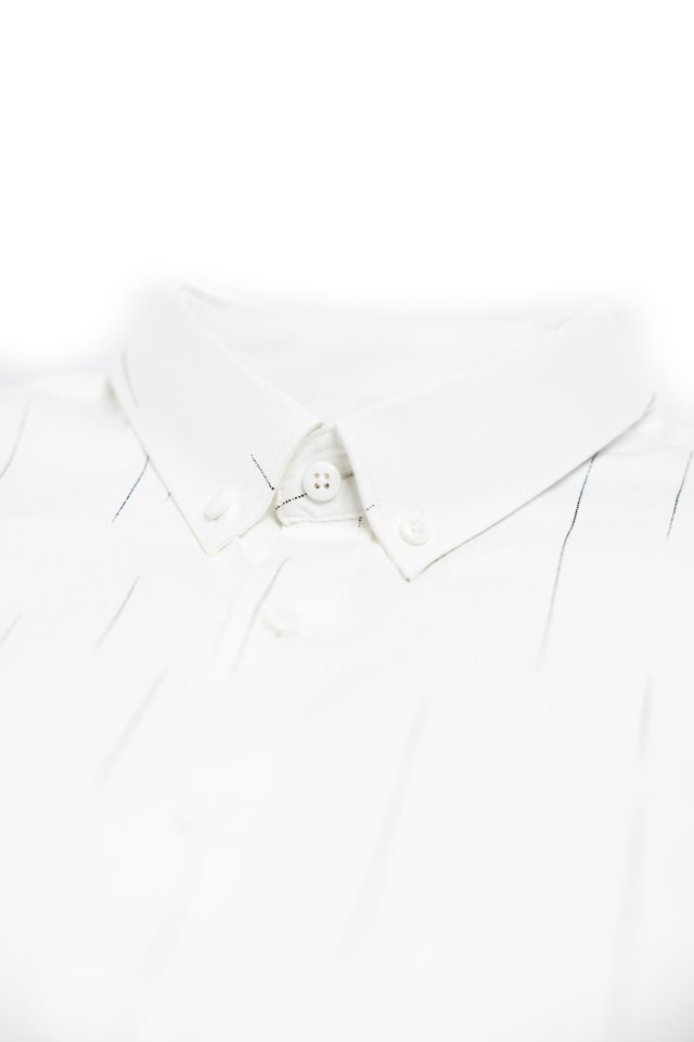 Asymmetrical Prints Long Sleeve Shirt in White