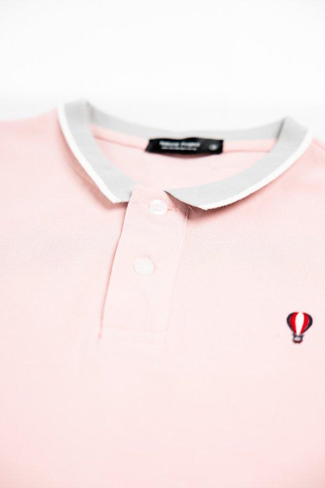 Pink Balloon Logo Polo Tee