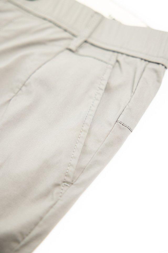 Grey Slim Fit Casual Pants