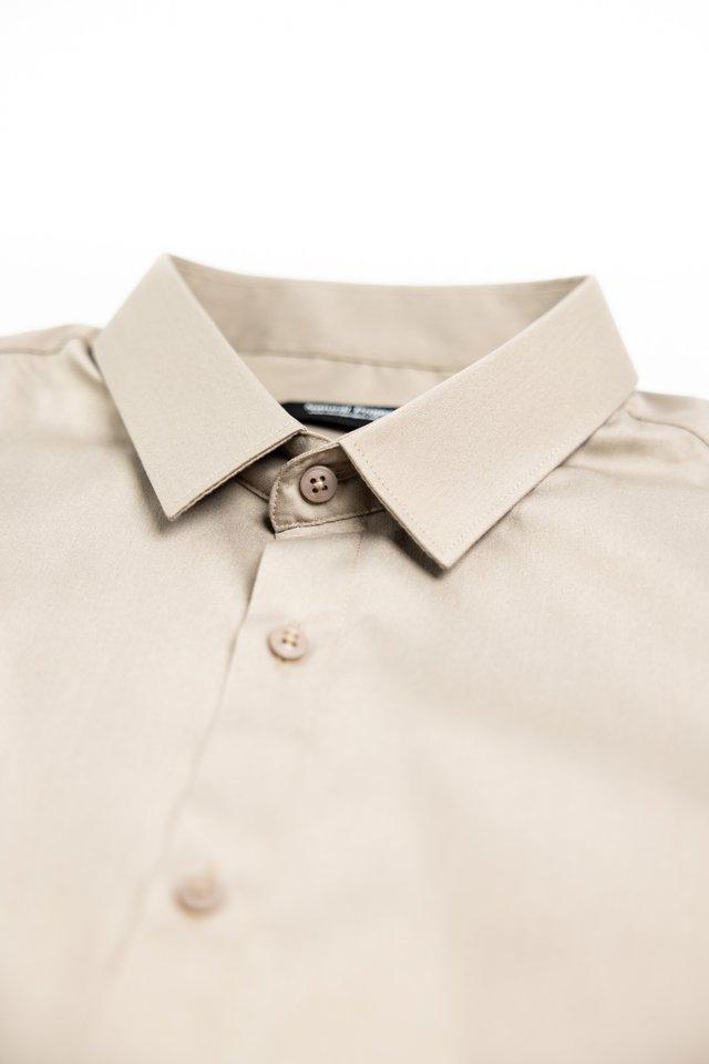 Champagne Button Down Long Sleeve Shirt